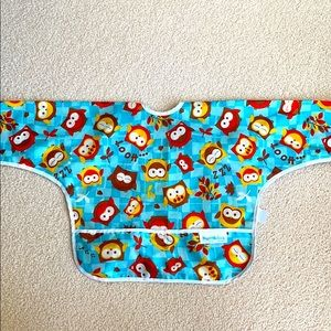 Kids long sleeve apron/Bib with tie back